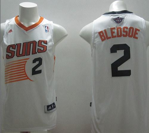 Suns 2 Bledsoe White New Revolution 30 Swingman Jerseys