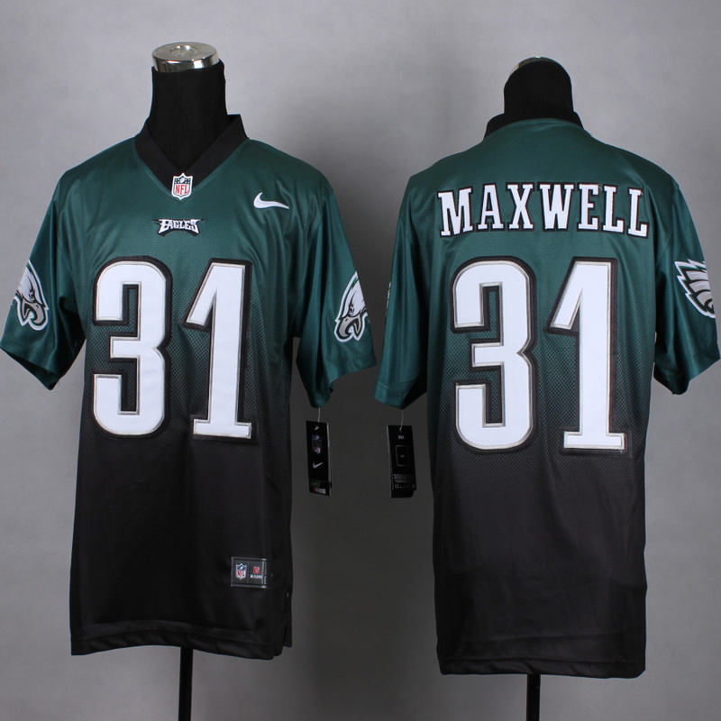 Nike Eagles 31 Byron Maxwell Green And Black Drift Fashion II Elite Jersey
