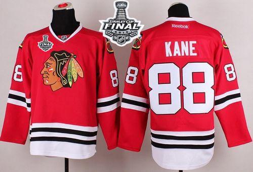 Blackhawks 88 Patrick Kane Red 2015 Stanley Cup Jersey