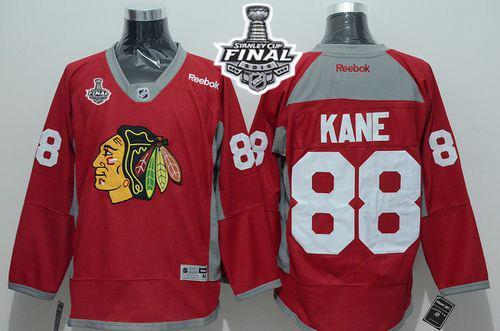 Blackhawks 88 Patrick Kane Red Practice 2015 Stanley Cup Jersey