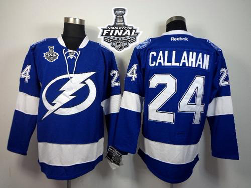 Lightning 24 Ryan Callahan Blue 2015 Stanley Cup Jersey