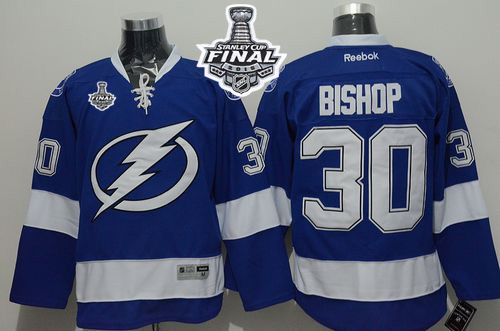 Lightning 30 Ben Bishop Blue 2015 Stanley Cup Jersey