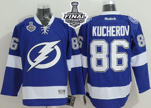 Lightning 86 Nikita Kucherov Blue 2015 Stanley Cup Jersey