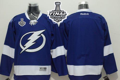 Lightning Blank Blue 2015 Stanley Cup Jersey
