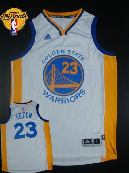 Warriors 23 Green White 2015 NBA Finals New Rev 30 Jersey
