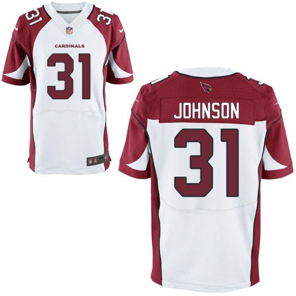 Nike Cardinals 31 David Johnson White Elite Jersey