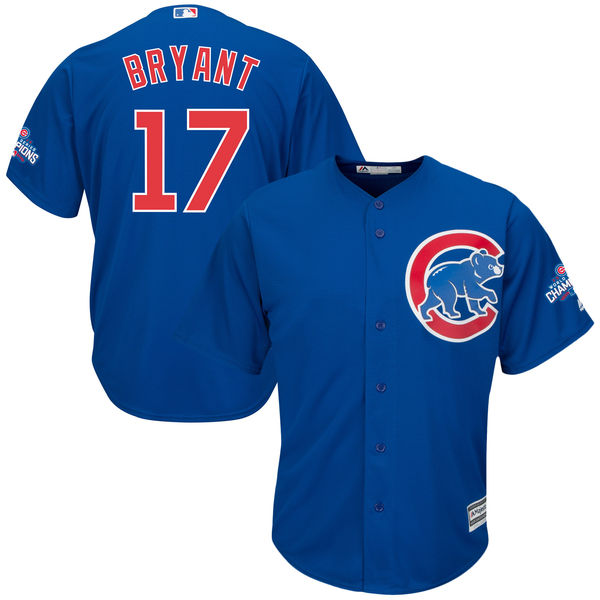 Cubs 17 Kris Bryant Royal 2016 World Series Champions New Cool Base Jersey