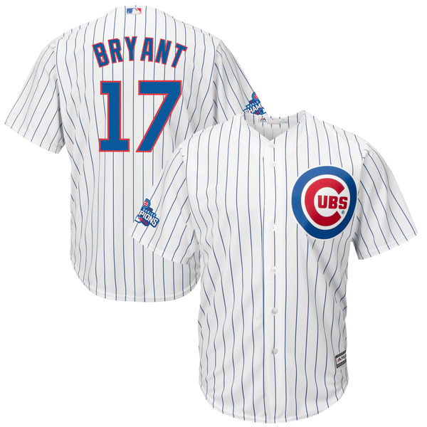 9d49342fc Cubs 17 Kris Bryant White 2016 World Series Champions New Cool Base Jersey