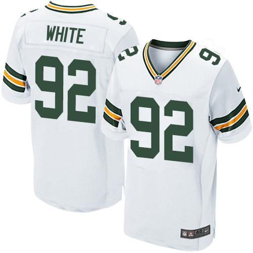 Nike Packers 92 Reggie White White Elite Jersey