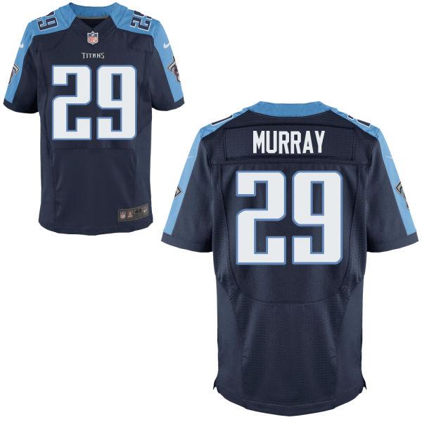 Nike Titans 29 DeMarcus Murray Navy Elite Jersey