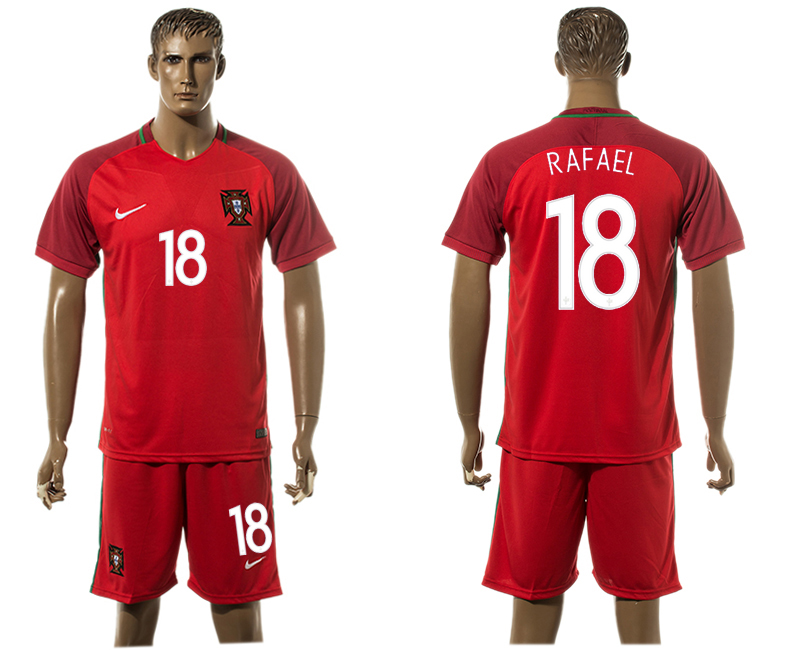 Portugal 18 RAFAEL Home UEFA Euro 2016 Soccer Jersey