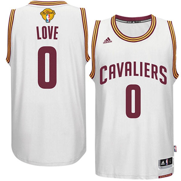 Cavaliers 0 Kevin Love White 2016 NBA Finals Swingman Jersey