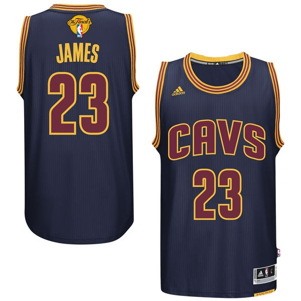 Cavaliers 23 LeBron James Navy 2016 NBA Finals Swingman Jersey
