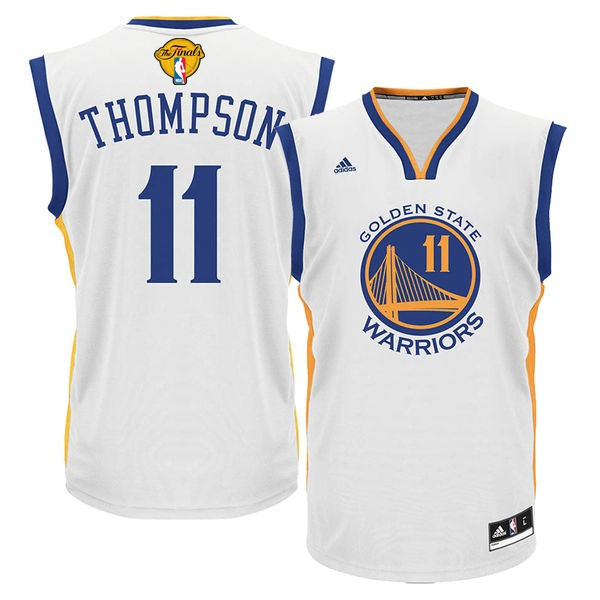Warriors 11 Klay Thompson White 2016 NBA Finals Swingman Jersey
