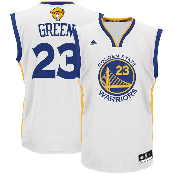 Warriors 23 Draymond Green White 2016 NBA Finals Swingman Jersey