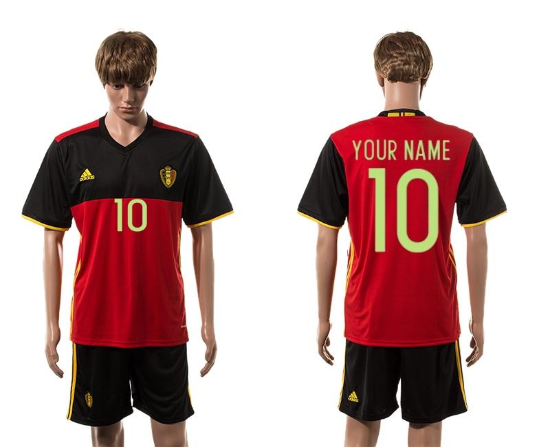 Belgium Home UEFA 2016 Customized Soccer Jersey