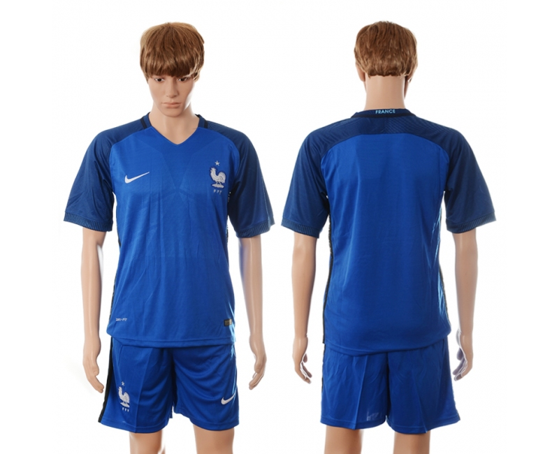 France Home UEFA 2016 Customized Soccer Jersey