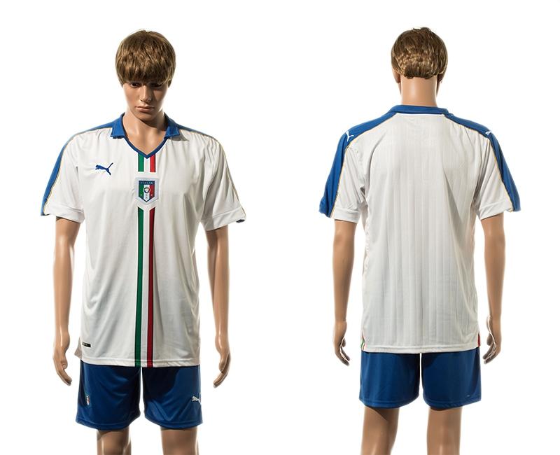 Italy Away UEFA 2016 Customized Soccer Jersey
