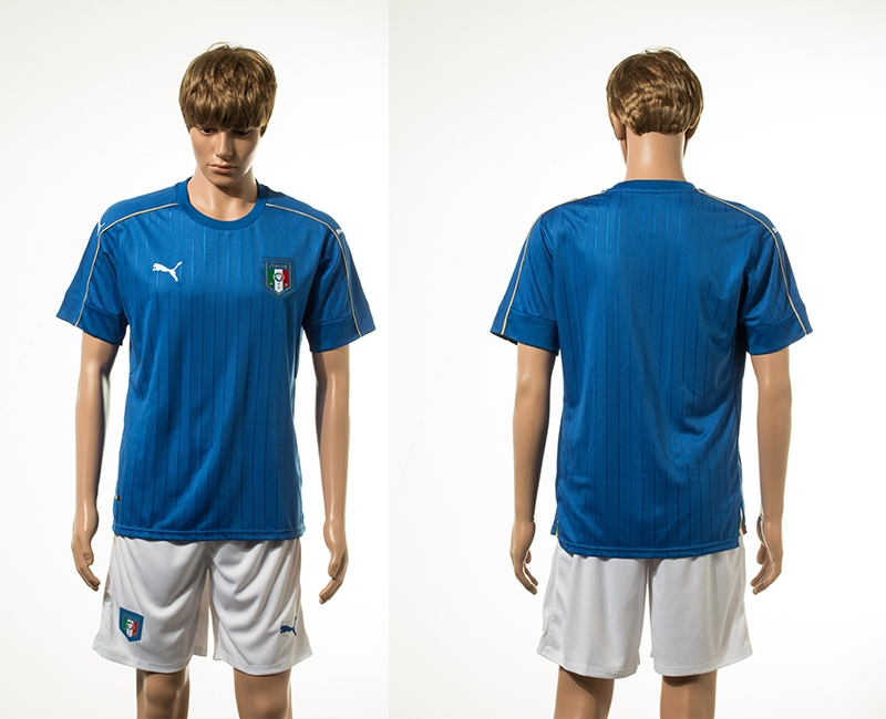 Italy Home UEFA 2016 Customized Soccer Jersey