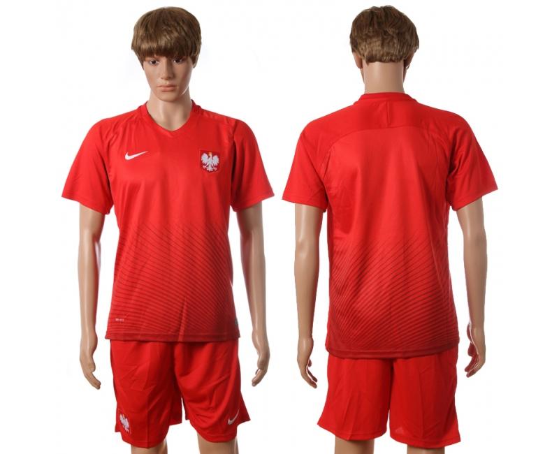 Poland Away UEFA 2016 Customized Soccer Jersey