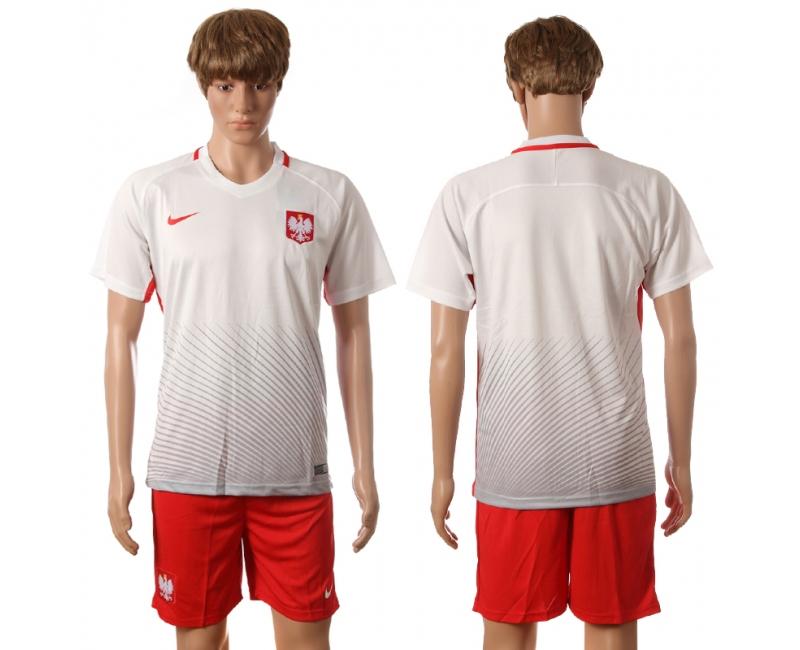 Poland Home UEFA 2016 Customized Soccer Jersey