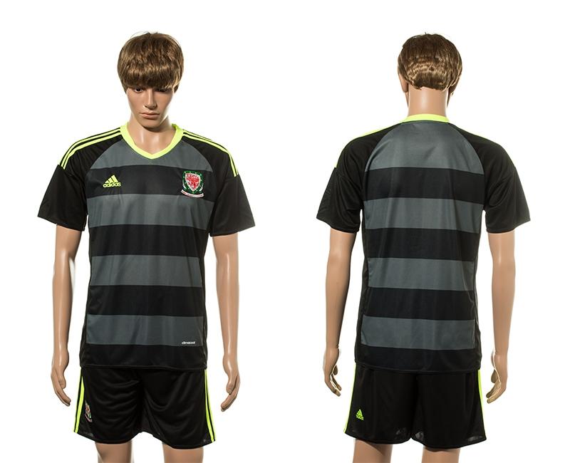 Wales Away UEFA 2016 Customized Soccer Jersey