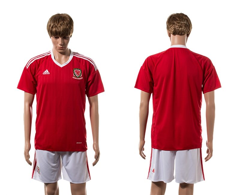 Wales Home UEFA 2016 Customized Soccer Jersey