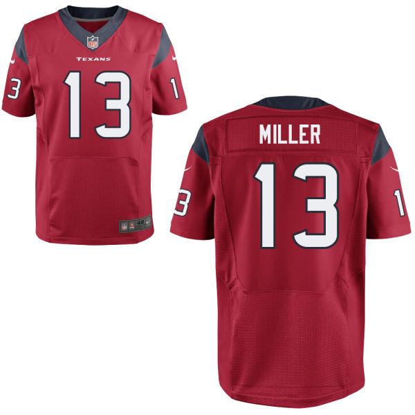 Nike Texans 13 Braxton Miller Red Elite Jersey