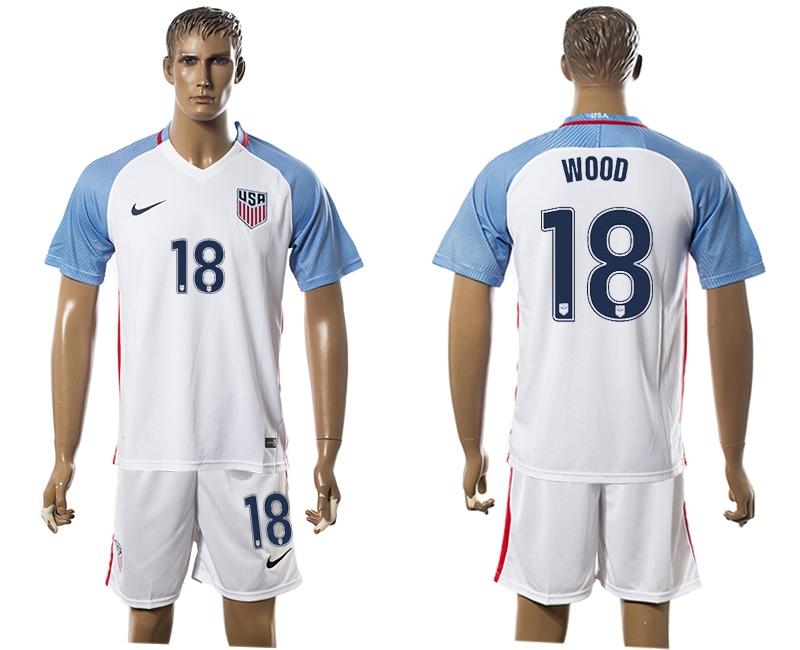 2016-17 USA 18 WOOD Home Soccer Jersey