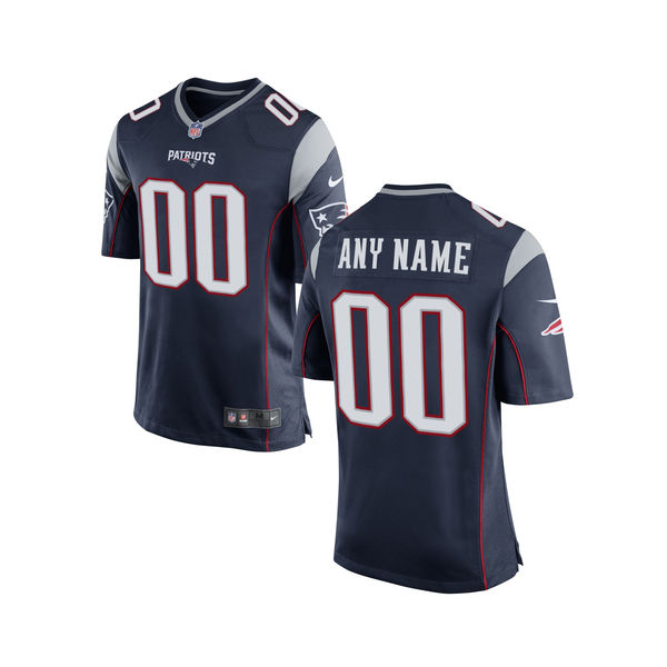 Nike New England Patriots Navy Youth Custom Game Jersey