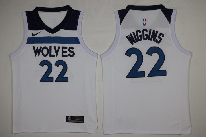 Timberwolves 22 Andrew Wiggins White Nike Swingman Jersey