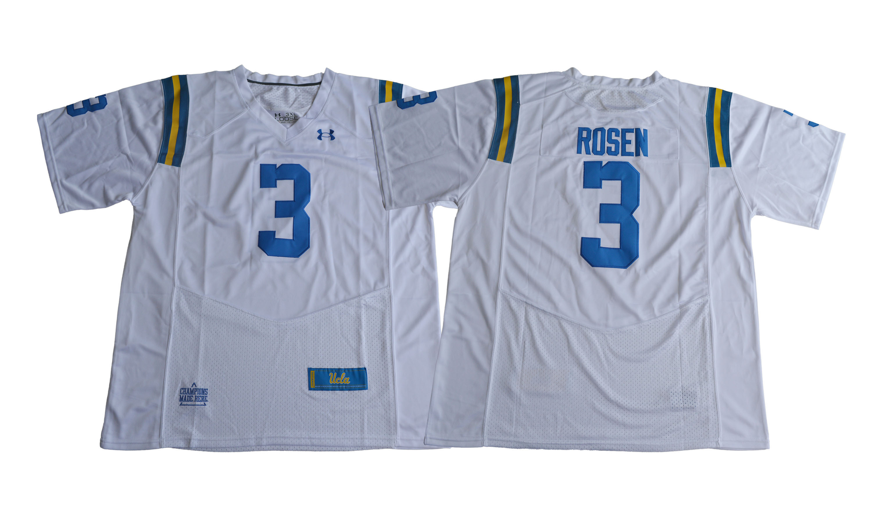 UCLA Bruins 3 Josh Rosen White College Football Jersey