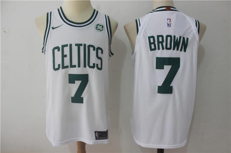 Celtics 7 Jaylen Brown White Nike Authentic Jersey