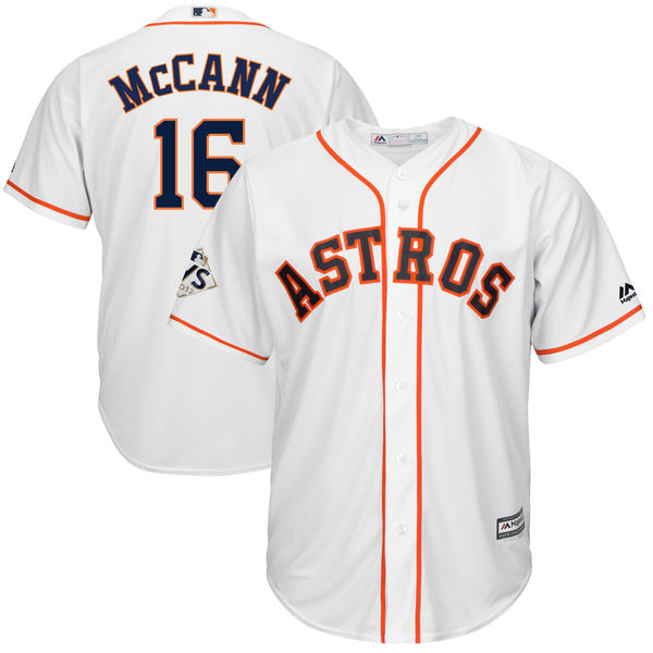 Astros 16 Brian McCann White 2017 World Series Bound Cool Base Player Jersey