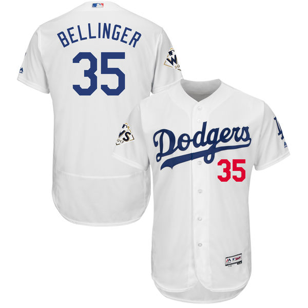 Dodgers 35 Cody Bellinger White 2017 World Series Bound Flexbase Player Jersey