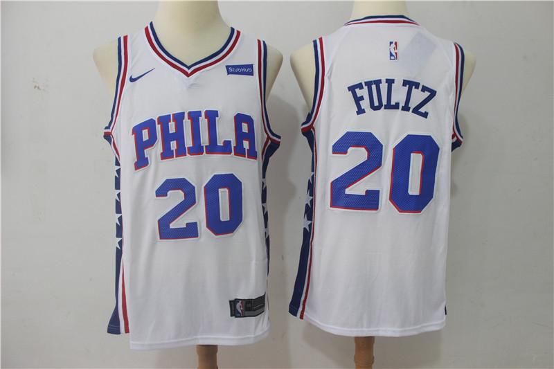 76ers 20 Markelle Fultz White Nike Swingman Jersey
