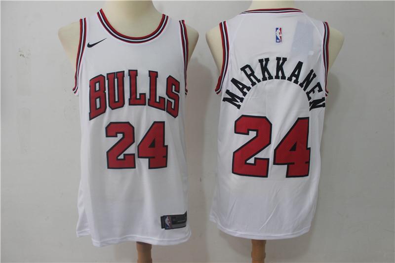 Bulls 24 Laur Markkanen White Nike Swingman Jersey