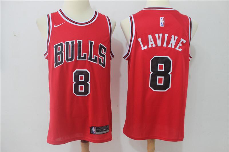 Bulls 8 Zach Lavine Red Nike Swingman Jersey