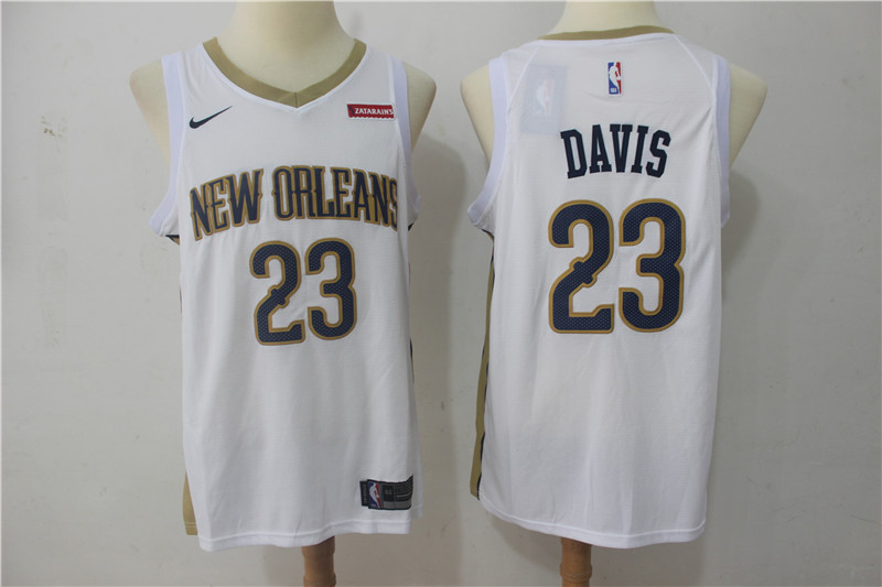 Pelicans 23 Anthony Davis White Nike Swingman Jersey