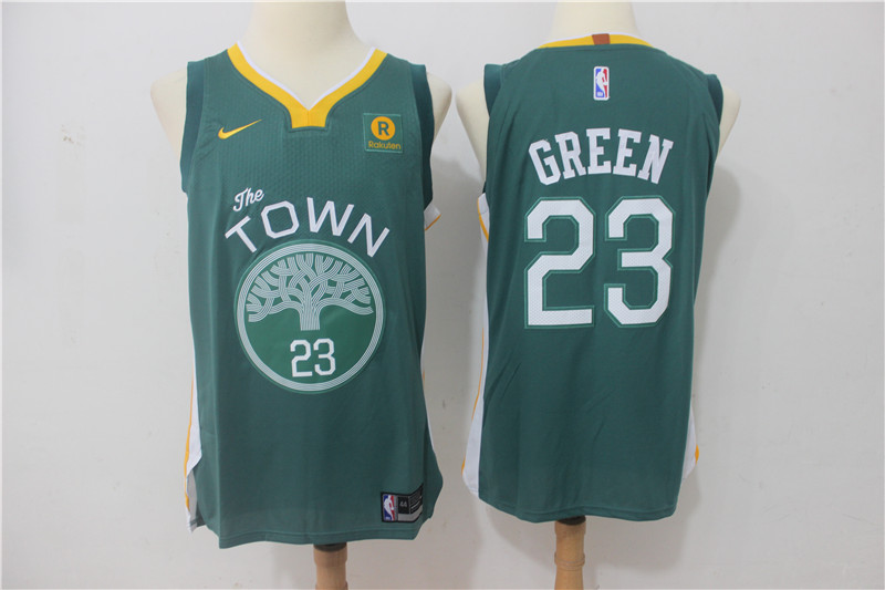 Warriors 23 Draymond Green Green The Town Nike Authentic Jersey