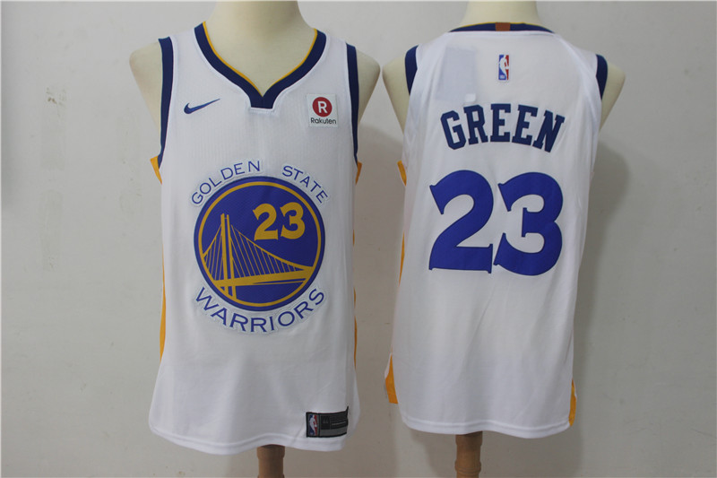 Warriors 23 Draymond Green White Nike Authentic Jersey