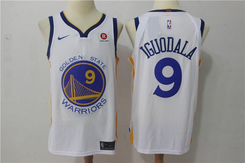 Warriors 9 Andre Iguodala White Nike Authentic Jersey