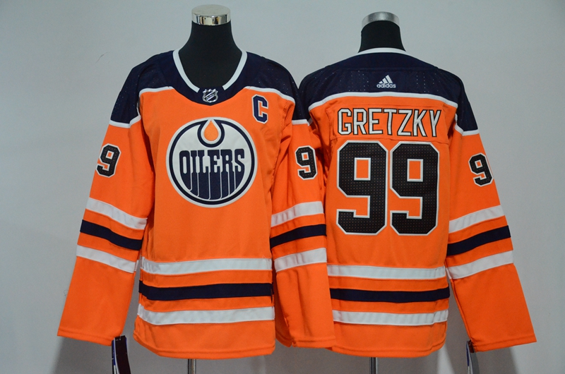 Oilers 99 Wayne Gretzky Orange Youth Adidas Jersey