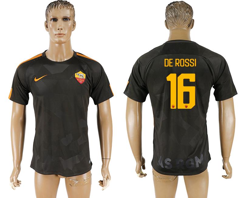 2017-18 Roma 16 DE ROSSI Away Thailand Soccer Jersey
