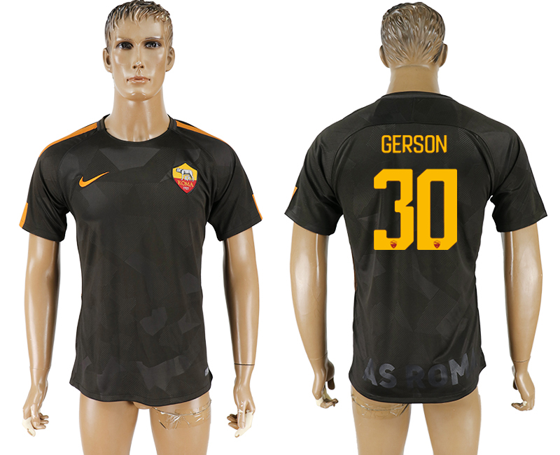 2017-18 Roma 30 GERSON Away Thailand Soccer Jersey