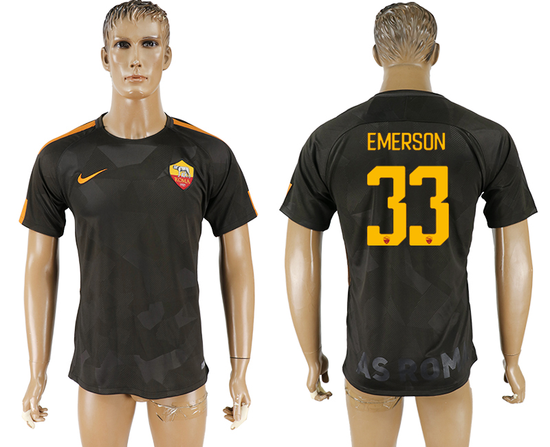 2017-18 Roma 33 EMERSON Away Thailand Soccer Jersey