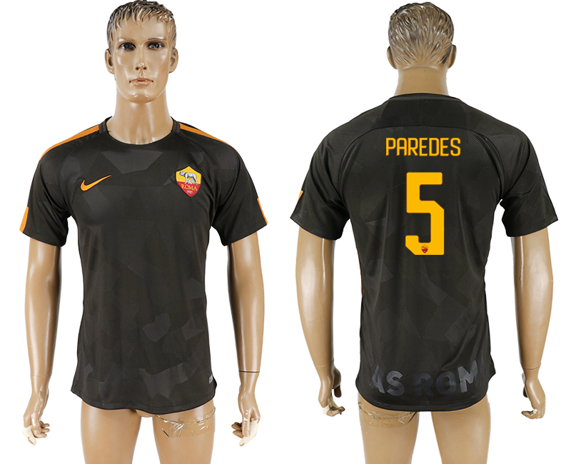 2017-18 Roma 5 PAREDES Away Thailand Soccer Jersey