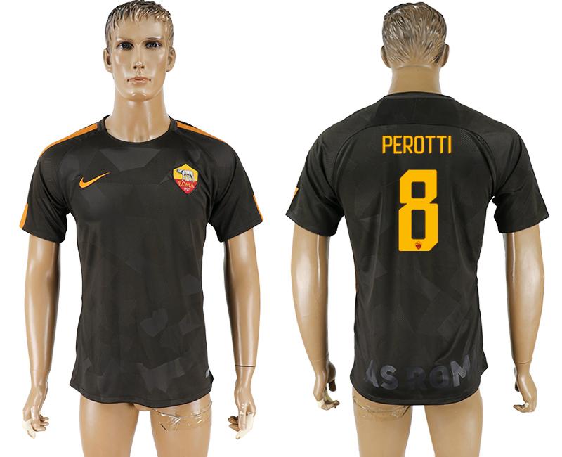 2017-18 Roma 8 PEROTTI Away Thailand Soccer Jersey
