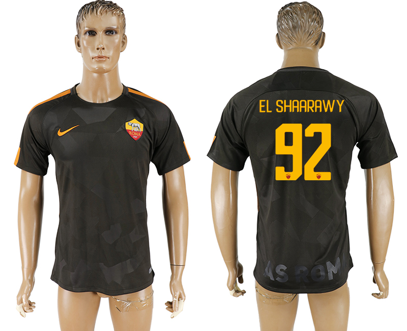 2017-18 Roma 92 EL SHAARAWY Away Thailand Soccer Jersey