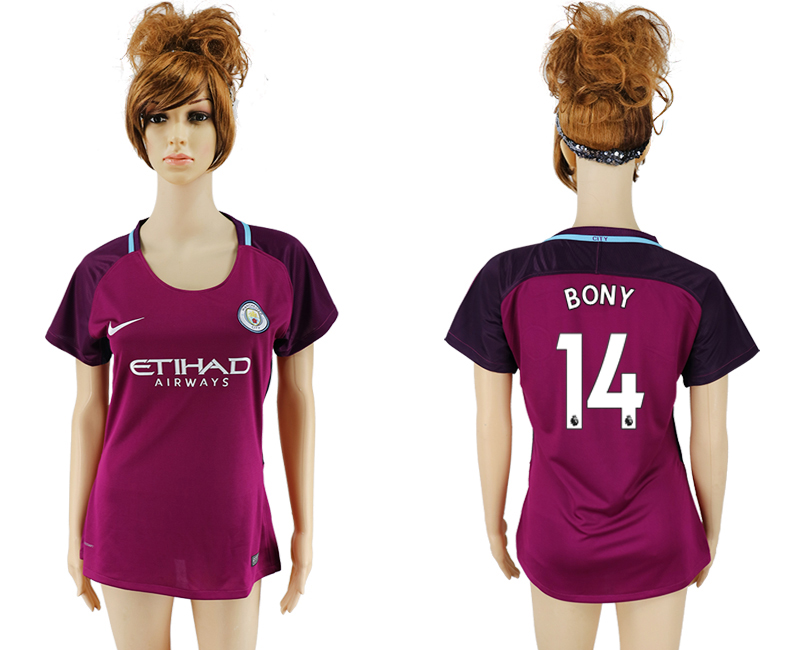 2017-18 Manchester City 11 BONY Away Women Soccer Jersey